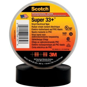 3M Scotch Super 33+ Eltejp svart
