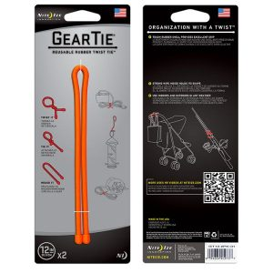 Nite Ize Gear Tie 12 Vajer 2-pack orange