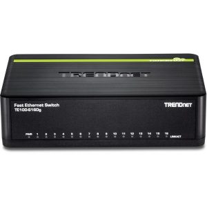 TRENDnet TE100-S16DG Switch med Plug and play funktion